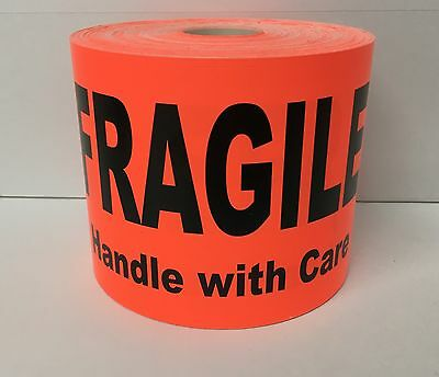250 Large Labels 4x6 Brred Fragile Handle With Care Shipping Pallet Stickers