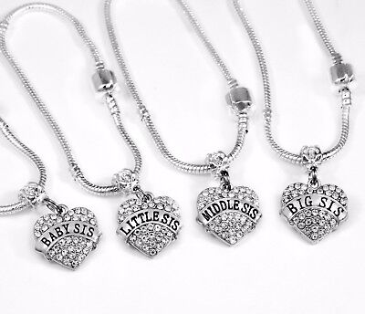 4 sister jewelry set Big, lil, middle and baby sister bracelet set best gift  Baby Set Jewelry Set