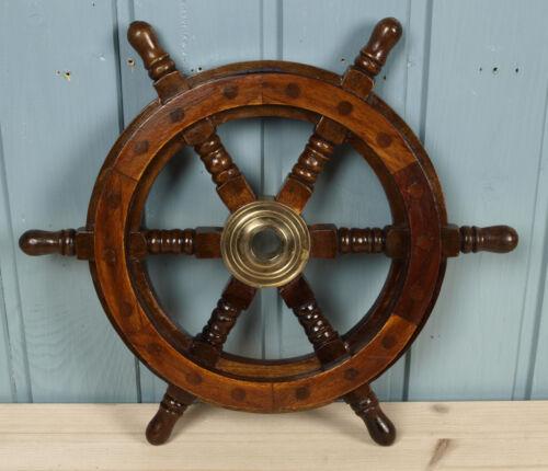 Deko Steuerrad aus Holz Durchmesser 30cm für die maritime Dekoration