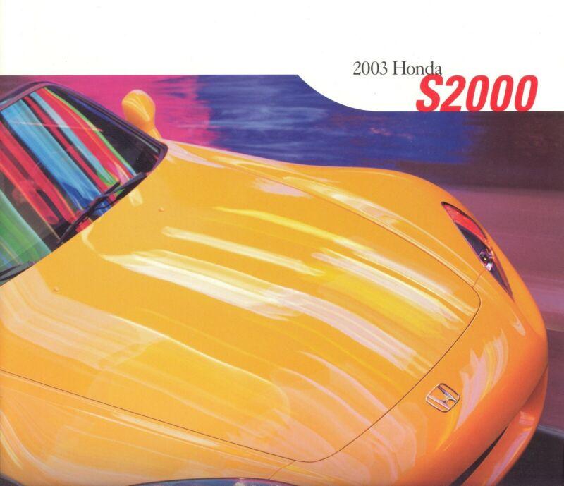 2003 Honda S2000 Dealer Sales Brochure - Mint!