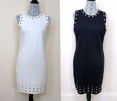 Neu Michael Kors Creme Weiß oder Marinebalu Blau und Goldton Stecker Kostüm - Blaue Und Weiße Kostüm