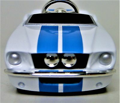 Pedal Car Ford Mustang 1966 Metal Body Vintage White Collector >READ DESCRIPTION