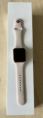 Apple Watch Series 3 42mm Rose Gold. GPS. Pink Sand and Stone Sport Bands.