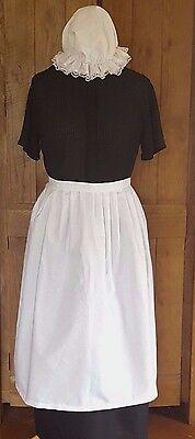 Damen Kostüm Taillen-Schürze & Mop Kappe viktorianisch Tudor - Edwardian Kostüme