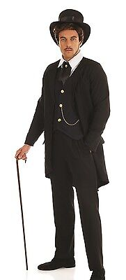 Mens Victorian Gentleman Gent Historical Posh Fancy Dress Costume Outfit - Victorian Mens Outfit