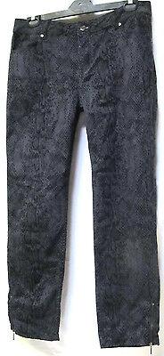 TS pants TAKING SHAPE plus sz XL / 24 Snake Print Jeans charcoal/black NWT $130