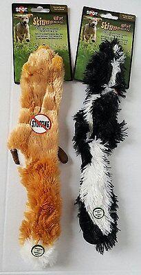 Plush Mini Skinneeez Stuffing Free Dog Toys Fox and Skunk (Set of 2) (Stuffed Dog Toys)