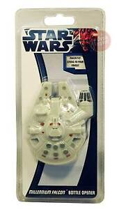 Star Wars Millennium Falcon Bottle Opener * NEW * magnetic stick to fridge *