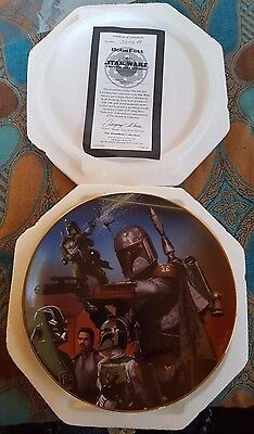 Star Wars Hamilton Collection Heroes and Villains Boba Fett Plate