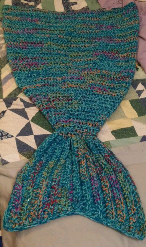Crochet Mermaid Tail Blanket (child size)