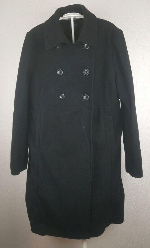 GAP Maternity Long Black WOOL Winter Dress Coat WOMENS Jacket Size Medium/M