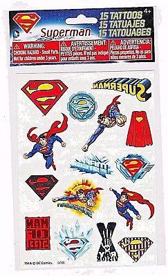 DC Comics Superman temporary tattoos new - Superman Tattoos