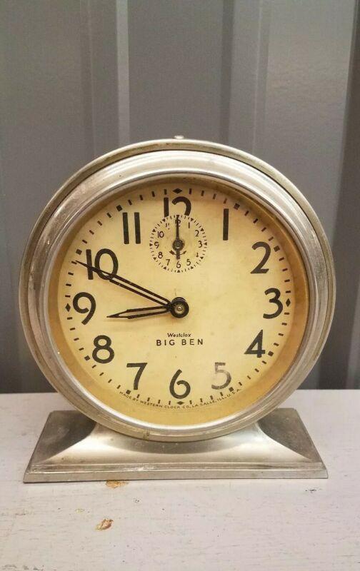 Antique Westclox Big Ben Deluxe Style 2 Alarm Clock-Circa 1927-Running! Serviced
