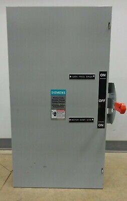 200 Amp Siemens Heavy Duty Double Throw 240vac 250vdc Cat. Dtnf324 Type. Vb Ii