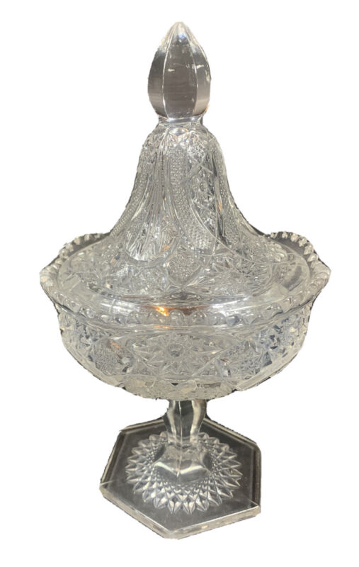 Indiana Glass Compote Candy Dish with Lid, Vintage