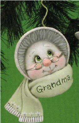 """Ceramic Bisque Ready to Paint Grandparent Sno-Kin Ornament 5"""" T~FREE SHIPPING"""