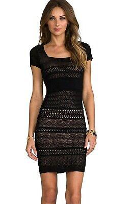 Catherine Malandrino Cheryl Pointelle Knit Dress      Size: S