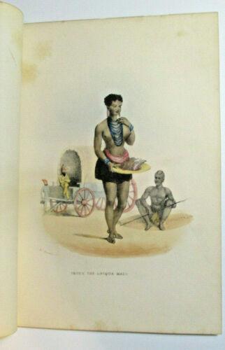 "William Cornwallis Harris ""Truey, The Griqua Maid"" 1852 Africa Lithograph"