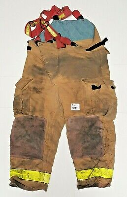 42x30 Pants With Suspenders Firefighter Turnout Bunker Fire Gear Globe P721