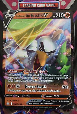 Pokemon TCG Sword & Shield Promo Card - Galarian Sirfetch'd V SWSH043 Holo Card
