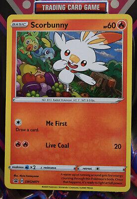 Pokemon TCG Black Star Promo - Scorbunny SWSH071 Holofoil Card - Pack Fresh