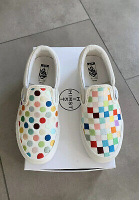 rst Slip-On Polka Dot Checkerboard Size 6 Mens Limited Shoes (Vans Polka Dot)