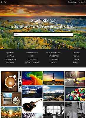 Stock Photography Marketplace Website For Sale
