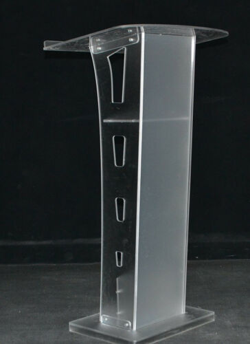 Plexiglass Conference Pulpit Acrylic Podium Clear Church Lectern Pulpit Stand US