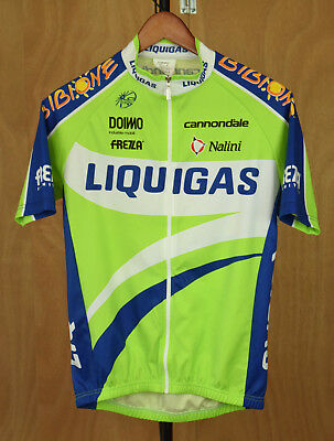 b646a4cfc NALINI Cycling Jersey Size 2 Liquigas Cannondale Made in Italy