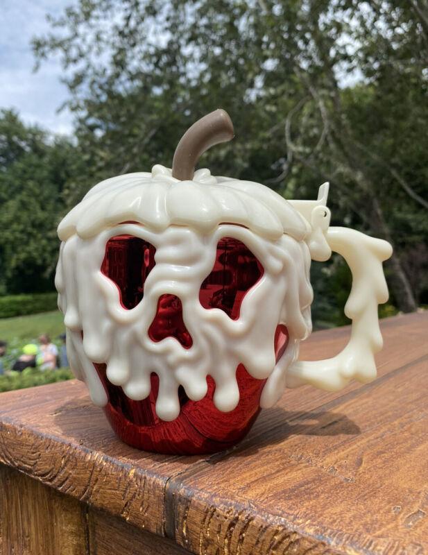 Disney Parks 2021  Halloween Poison Apple Stein Mug  RED  Glows in Dark  NEW