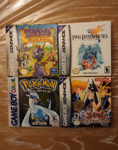 Gameboy Advance and Color Games IN BOX!