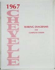 1967 Chevelle Factory Wiring Diagram Manual | eBay
