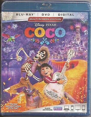 Disney Pixar Coco Blu-ray + DVD + Digital Movie BRAND NEW