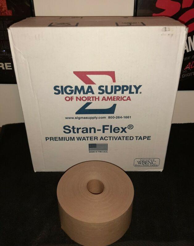Stran - Flex Premium Water Activated Tape 70mm X 450ft 10 Pack