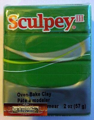 M00730 MOREZMORE Sculpey III STRING BEAN GREEN 2oz Polymer Clay S302 1628 A60