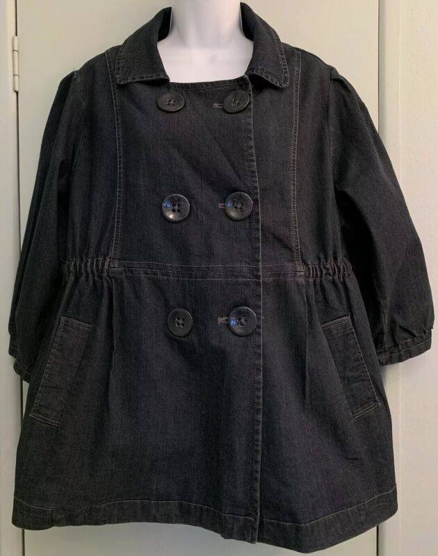 Motherhood Maternity Blue Denim Jacket Size XL Large Buttons Pockets 3/4 Sleeve