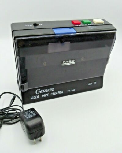 GENEVA PF-740 Video Tape Cleaner Vintage Rare Tested working AC Power supply
