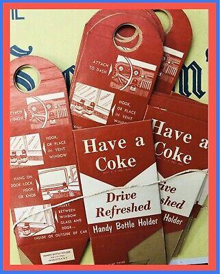 Vintage Coke Bottle x Drink One Holder (1x) Never Folded COCA-COLA Nostalgia