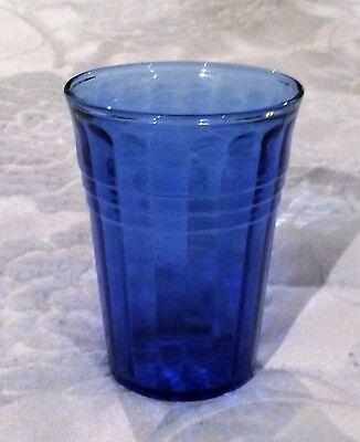 Moderntone Cobalt Depression Glass Water Tumbler