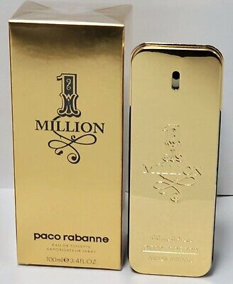 Paco Rabanne 1 Million 3.4oz / 100ml Men's Eau De Toilette Spray Brand New