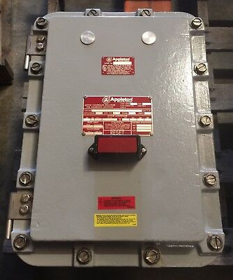 APPLETON ES3 4/92 EXPLOSION PROOF MOTOR CONTROLLER ENCLOSURE *NEW NO BOX*