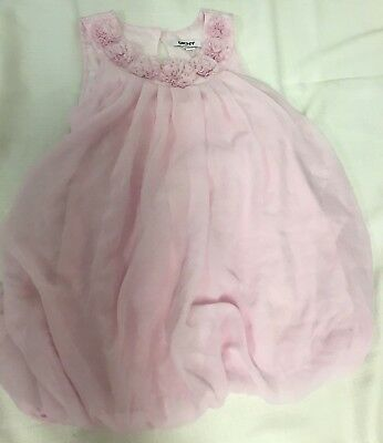 DKNY 4T Pink Little Baby Toddler Girl Dress Flowers Cute Spring Summer Heat Nina (Dkny Little Girl)