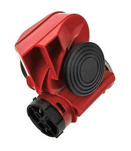 12V Fanfare 139dB Druckluft Lufthorn Horn Hupe Rot Kompressor LKW PKW Boot