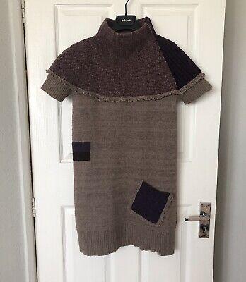 Alexander Mcqueen Vintage Wool Front Pocket Dress Rip & Patch Details Size S