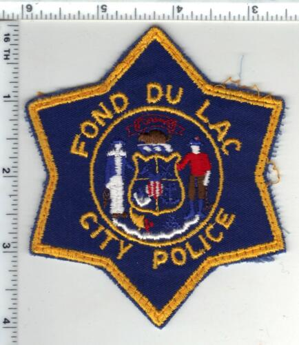 Fond Du Lac Police (Wisconsin) 1st Issue Uniform Take-Off Shoulder Patch