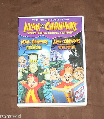 Alvin and the Chipmunks Scare-riffic  (DVD) KIDS HALLOWEEN DISNEY LIKE DVD - Alvin And The Chipmunks Halloween