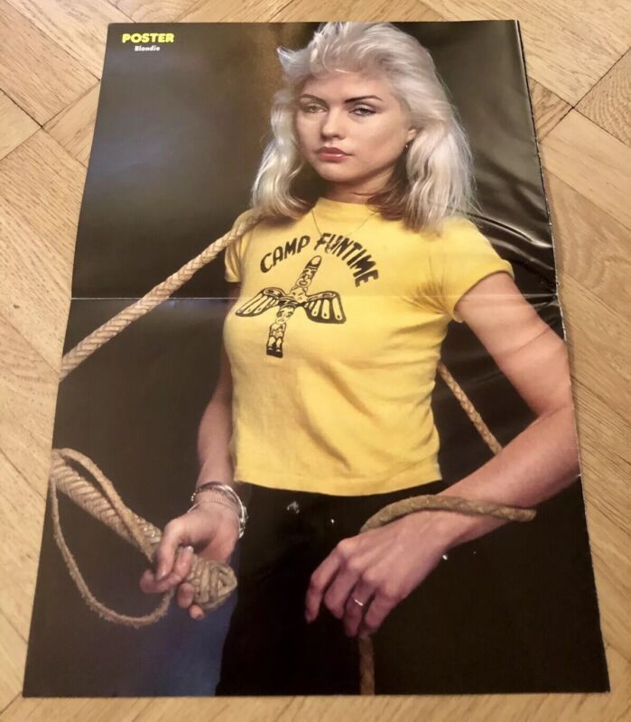 1977 Blondie Debbie Harry Swedish Poster Magazine 1970s Rare Vintage