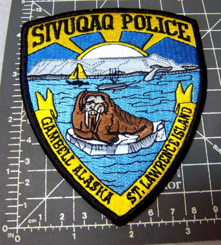Alaska Embroidered Patch, Sivuqaq Gambell Island Police Souvenir Patch, NEW