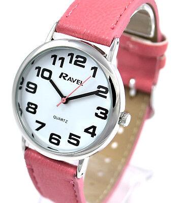 Ravel Damen Kühn Groß Nummer Uhr mit Großem Zifferblatt und Extra Lang