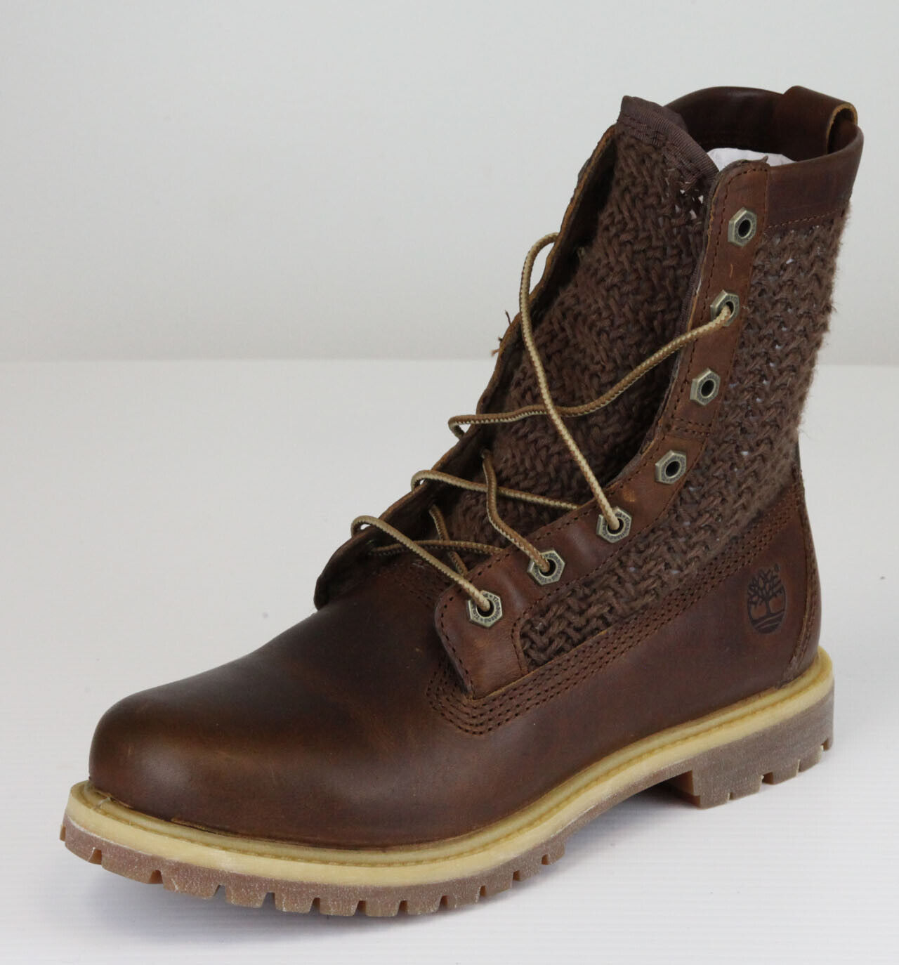 Timberland Women's Brown Auth Open Weave Work Boots Shoes $150 New